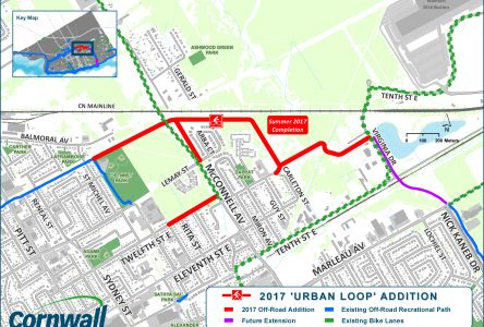Cornwall recreational path being expanded near McConnell Ave.