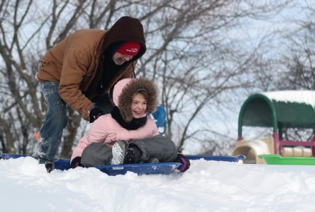 Snow saves toboggan party
