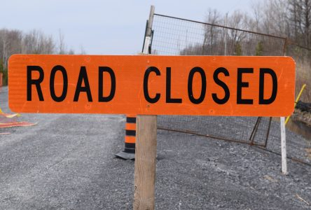 Part of County Rd. 18 in South Stormont closed for the week