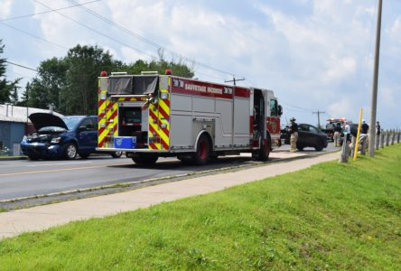 Charges pending in three vehicle accident
