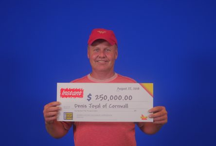 Cornwall resident wins top prize, $250,000