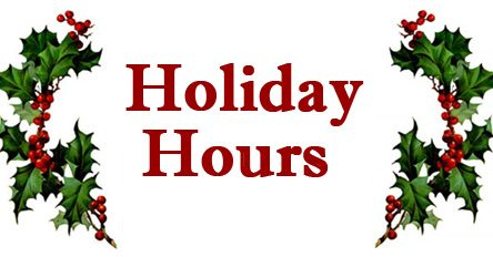 City holiday schedule