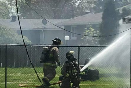 Afternoon fire on Leitch Drive