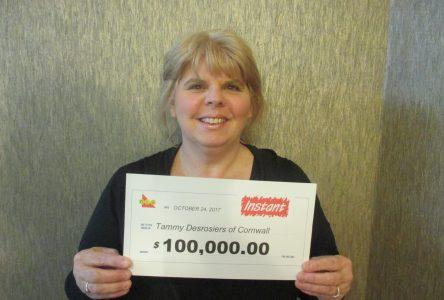 Cornwall resident wins $100, 000