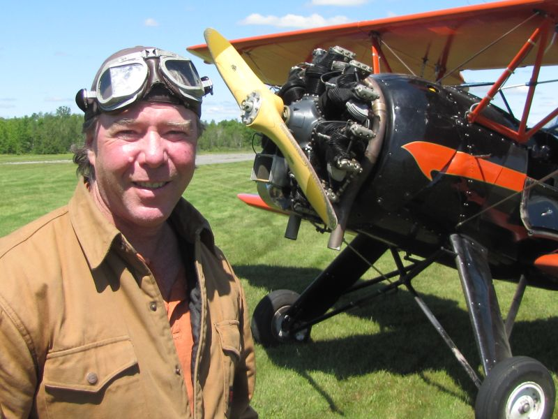 Biplane offers a different perspective from the air