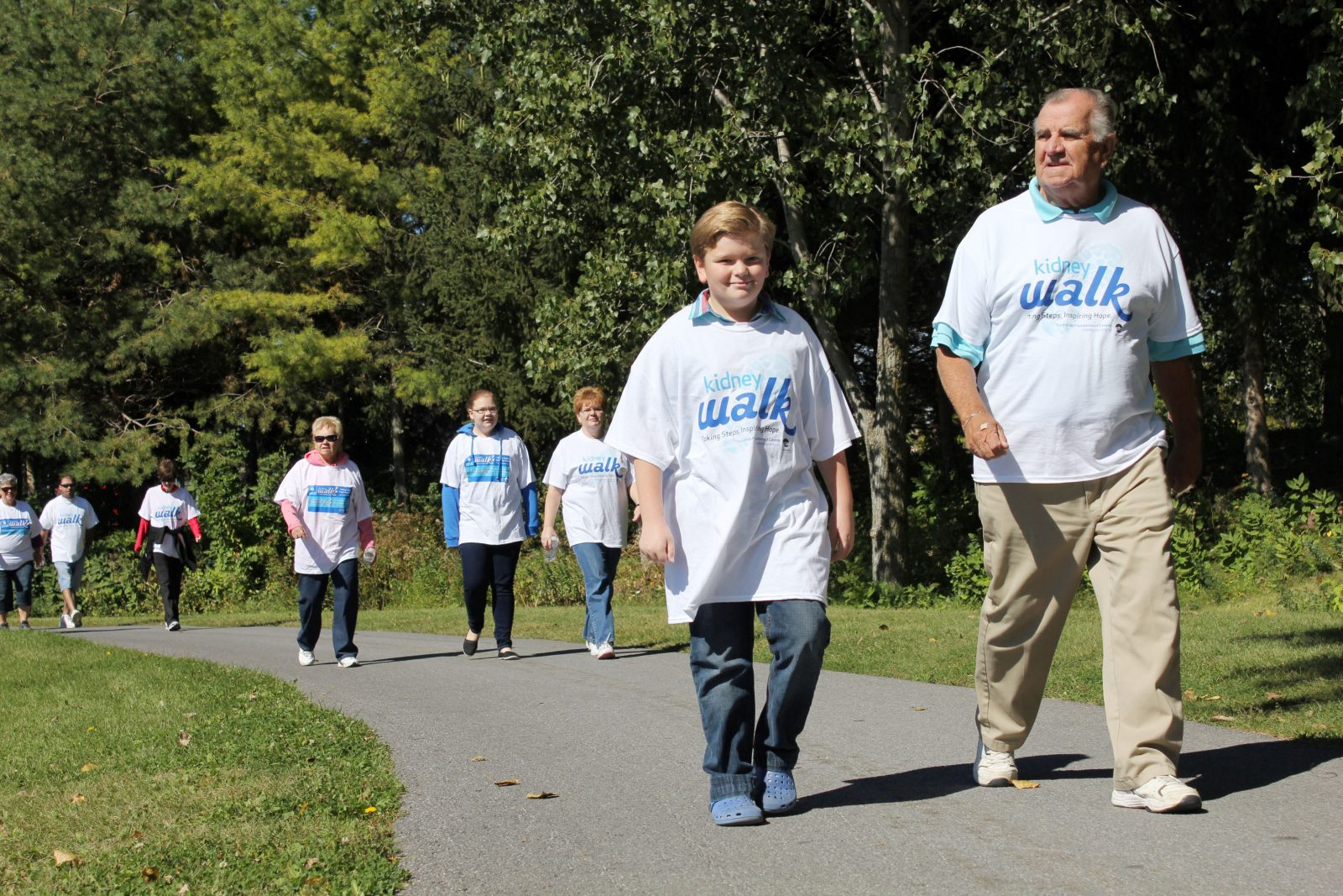 Dialysis patient marches with family at Kidney Walk