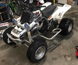 Police search stolen ATV