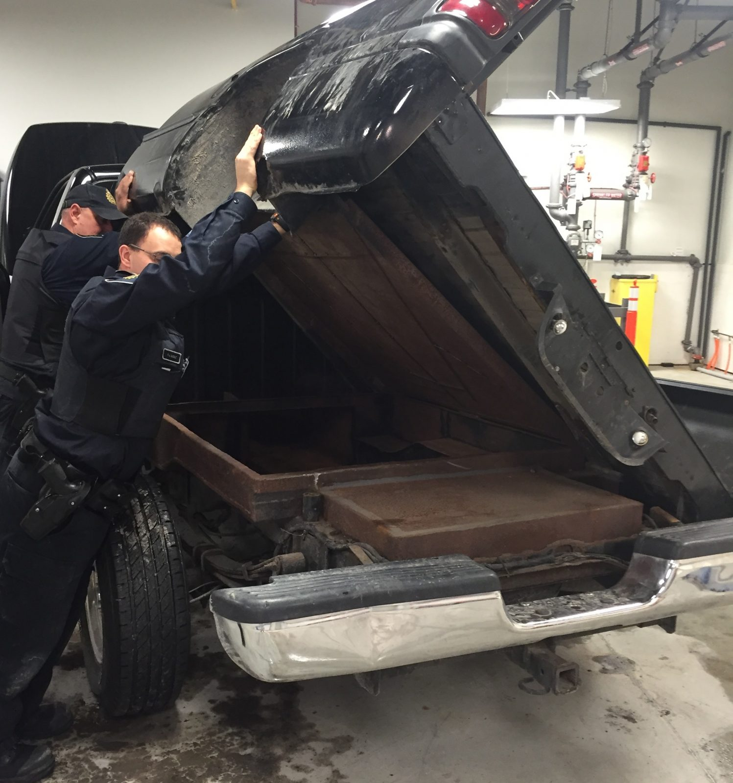 Smugglers modify trucks to hide contraband tobacco