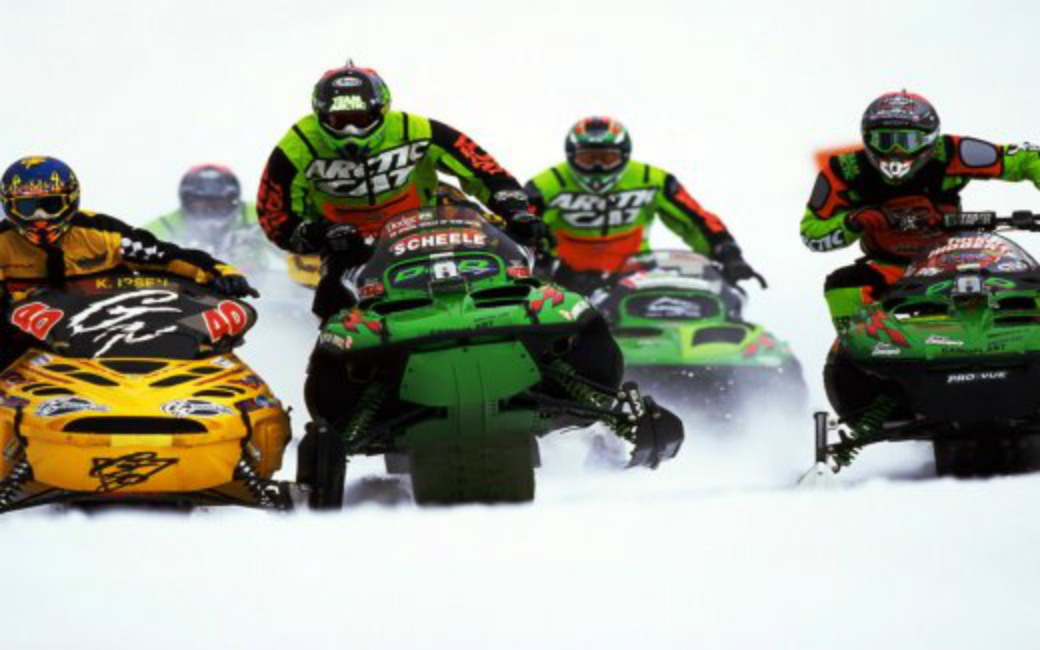 Snowmobile racing this winter at Cornwall speedway