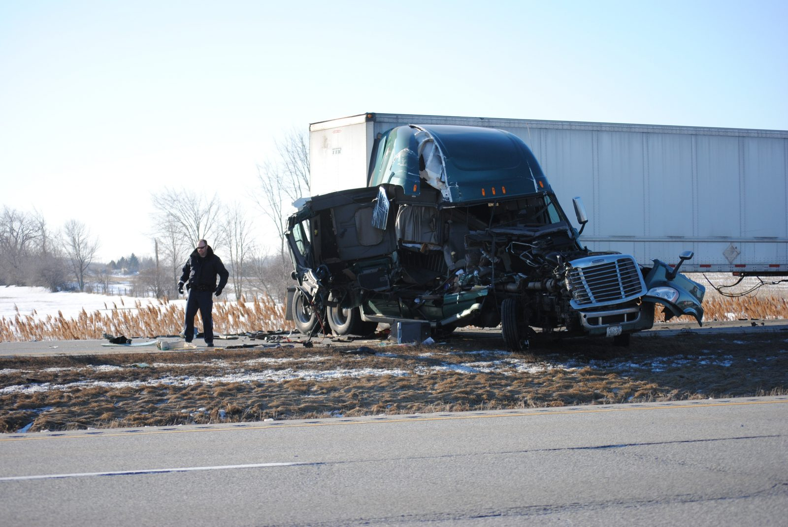 Accident snarls traffic on Highway 401