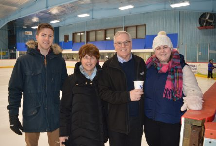 Community skates with M.P.P. McDonell