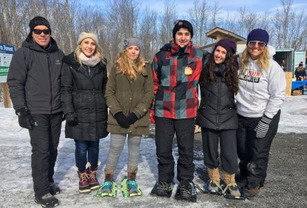 Students hit the trails for Agapè Centre