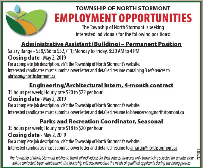 Employment Opportunities for Township North Stormont
