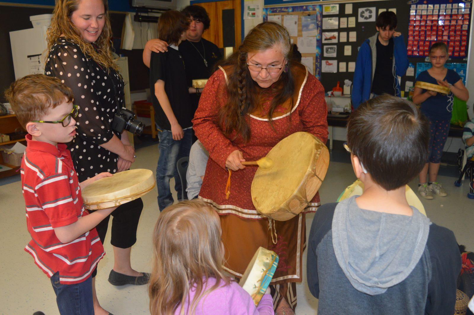 Students awaken their drums
