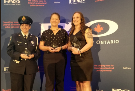 Cornwall police dispatcher Mylene Lacroix receives award