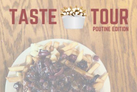 Menu for Taste Tour Poutine Edition!