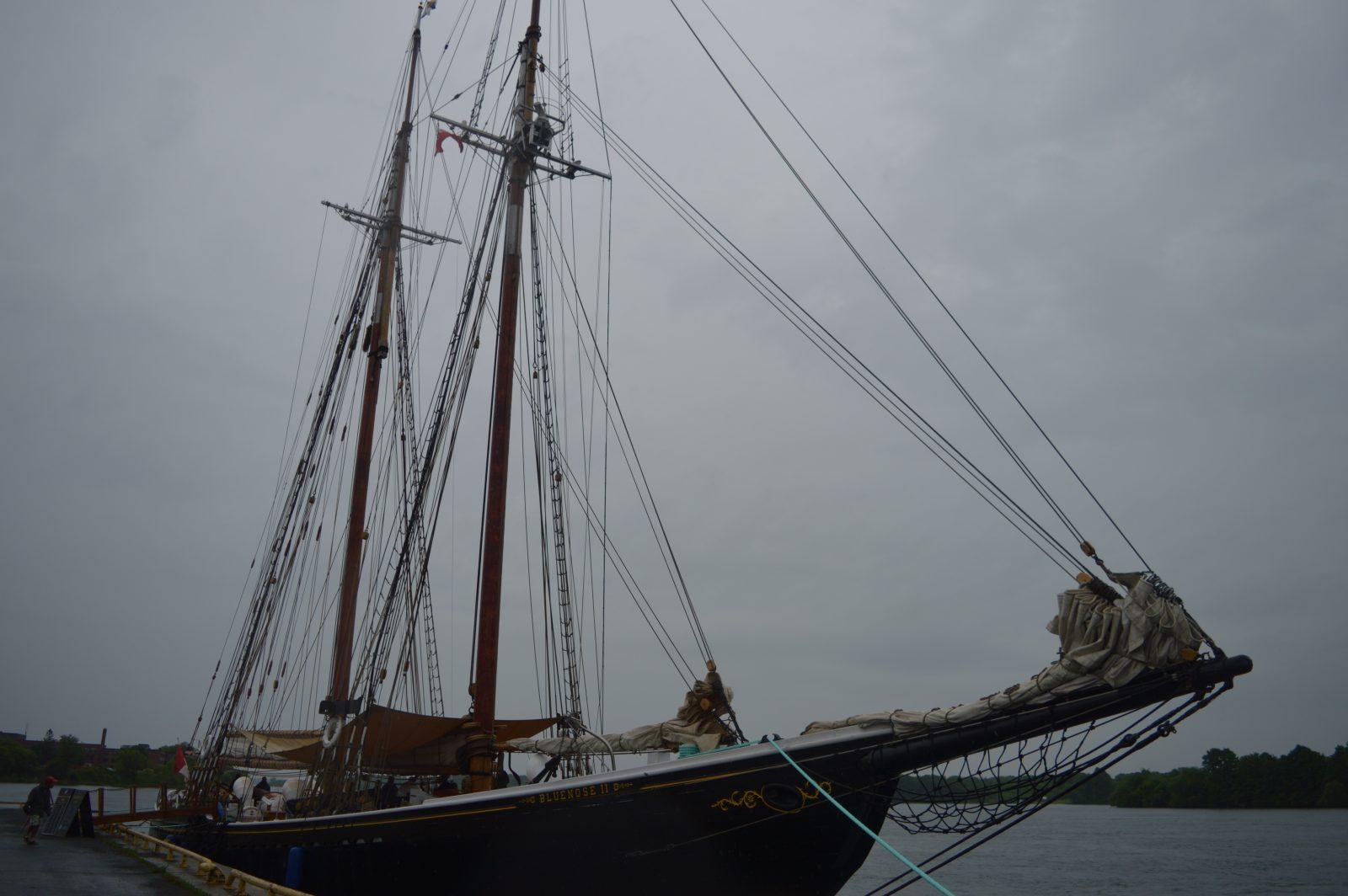 Bluenose II docks at Cornwall harbourfront