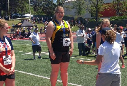 CCVS student makes shot put record at OFSAA