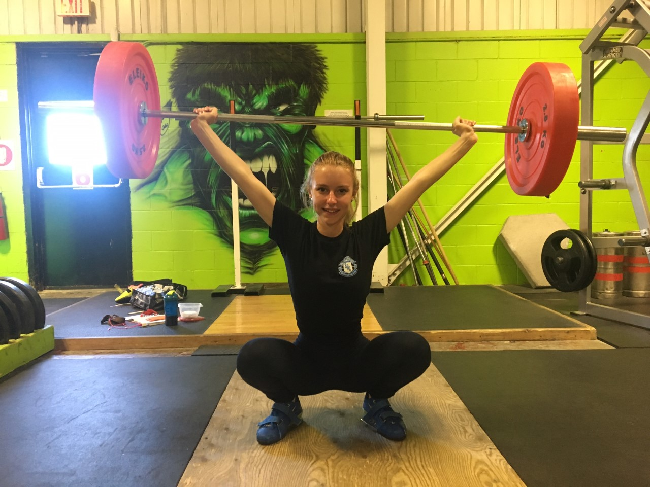 Local weightlifter breaks provincial record