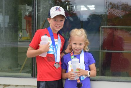 The kids run the Cornwall Triathlon