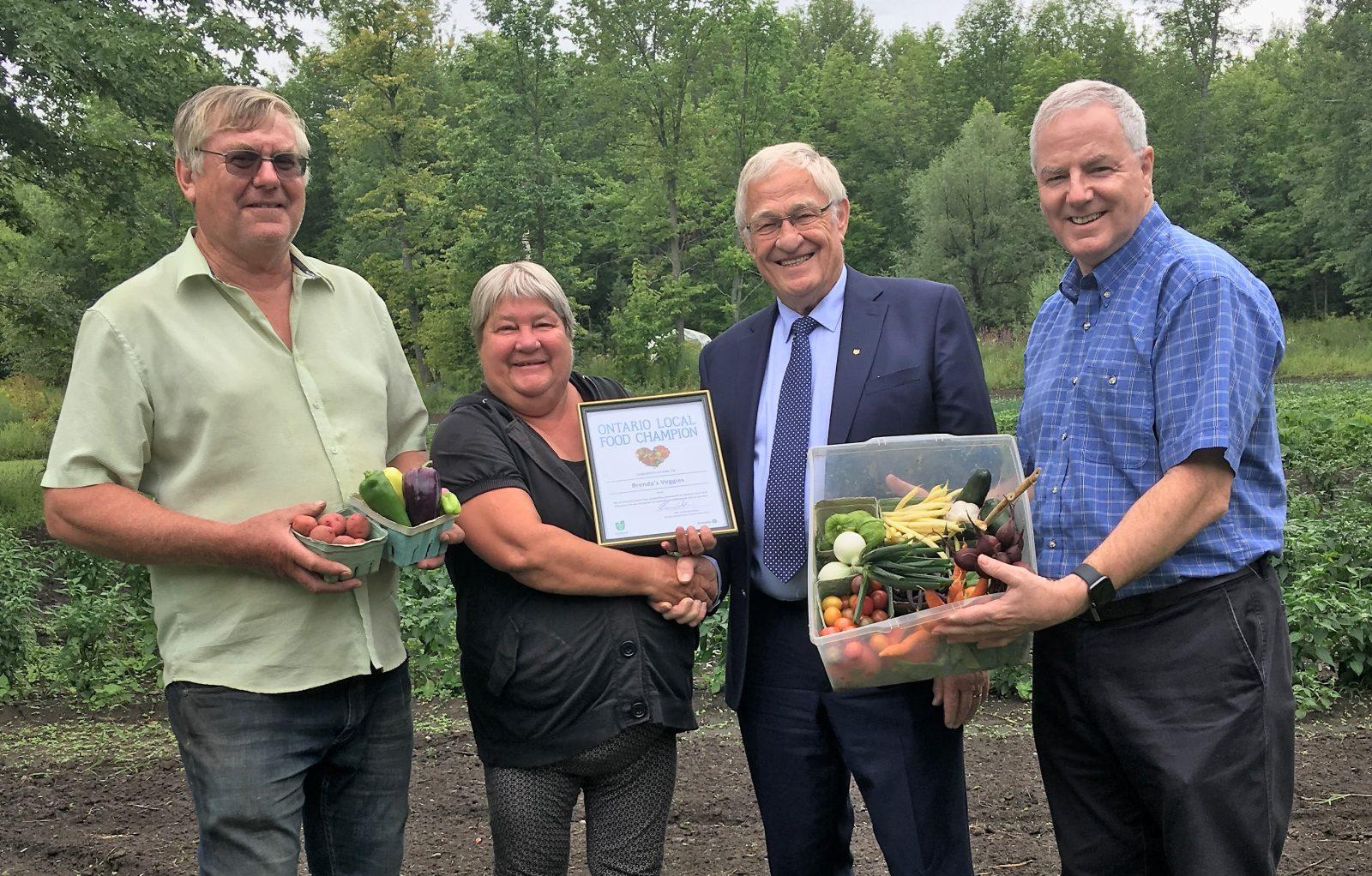 Brenda's Veggies recognized as provincial Food Champion
