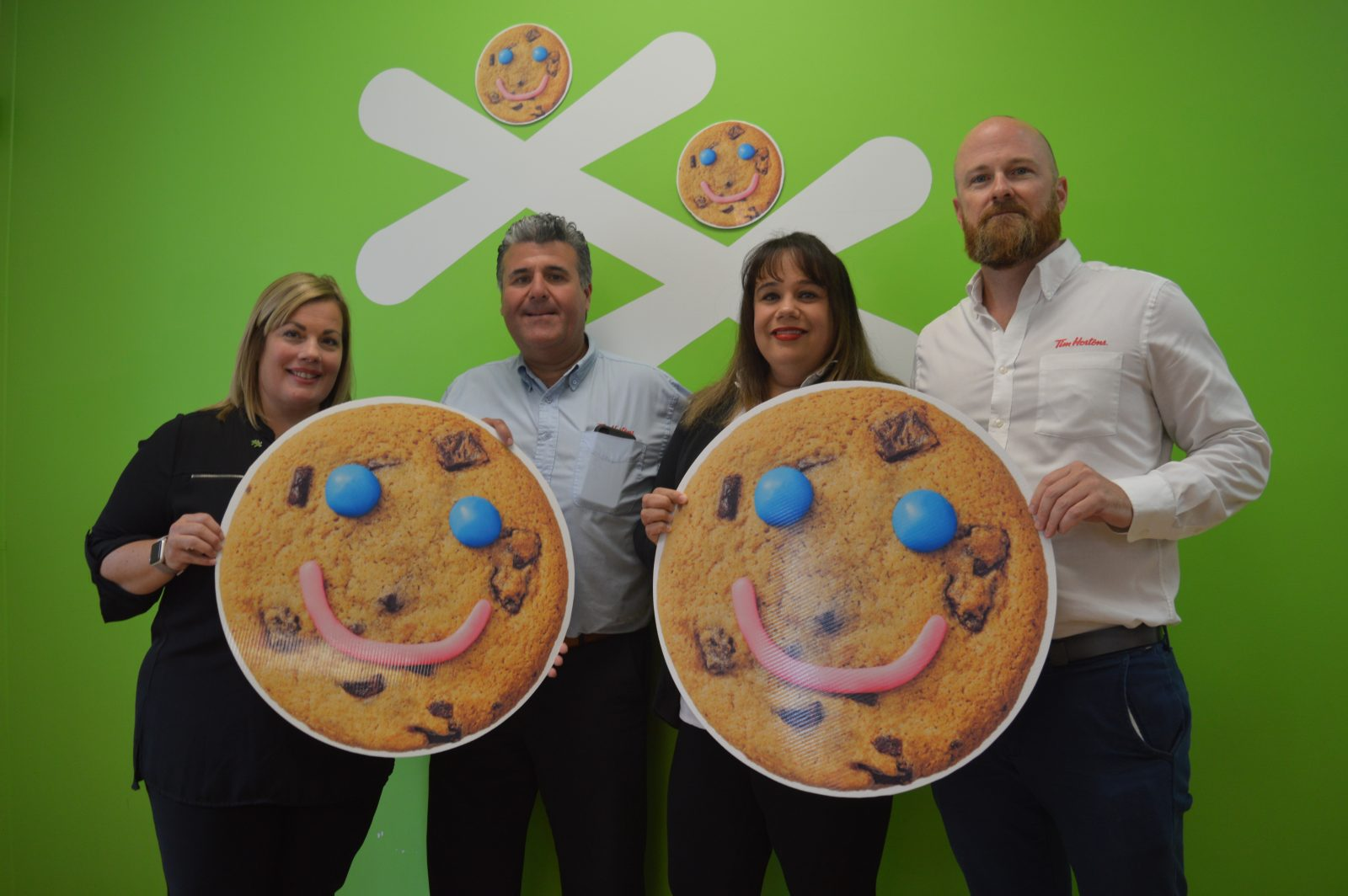 Smile Cookies supporting local Boys & Girls Club