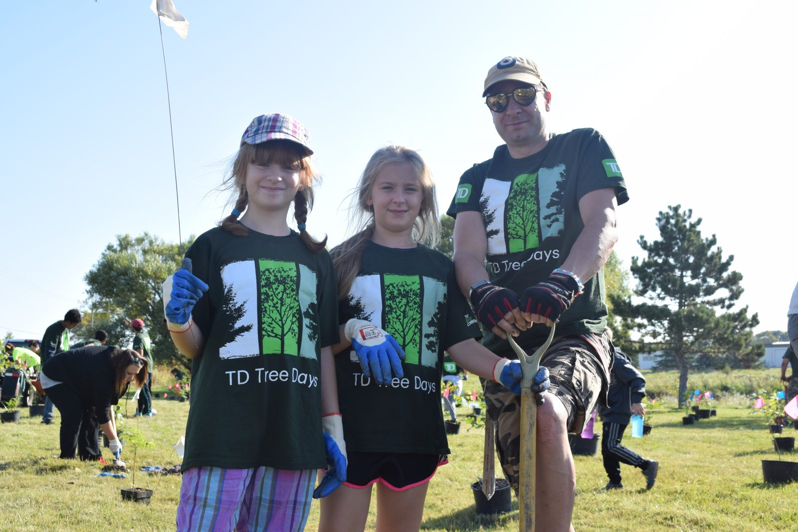 Hundreds of trees planted at TD Tree Days