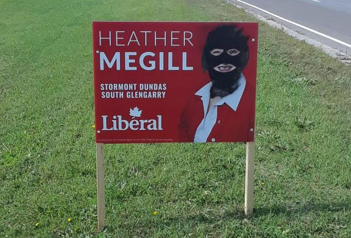 Local Liberal candidate election signs vandalized