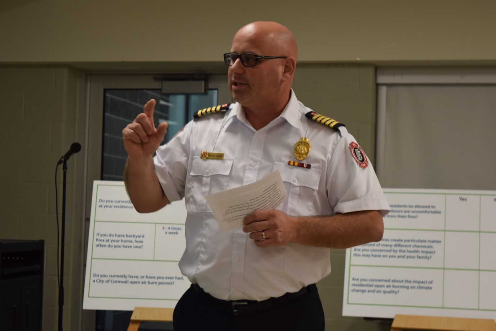 Burning questions posed of Fire Chief at open house