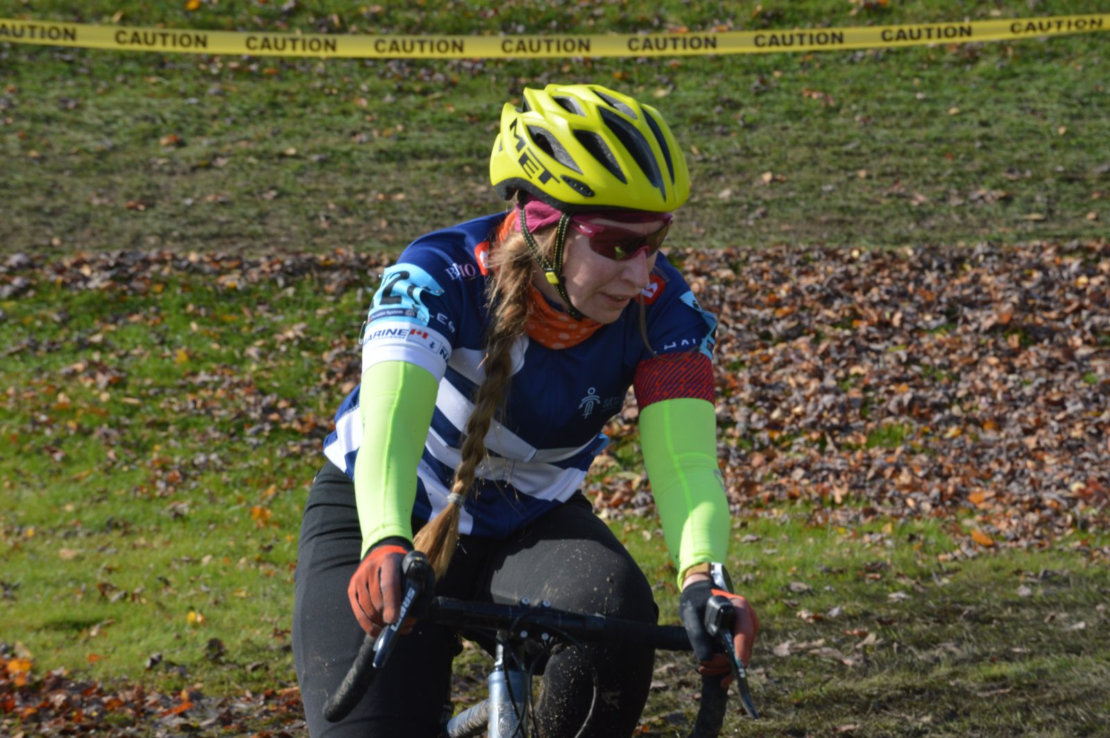 Cyclecross competitors race in Cornwall