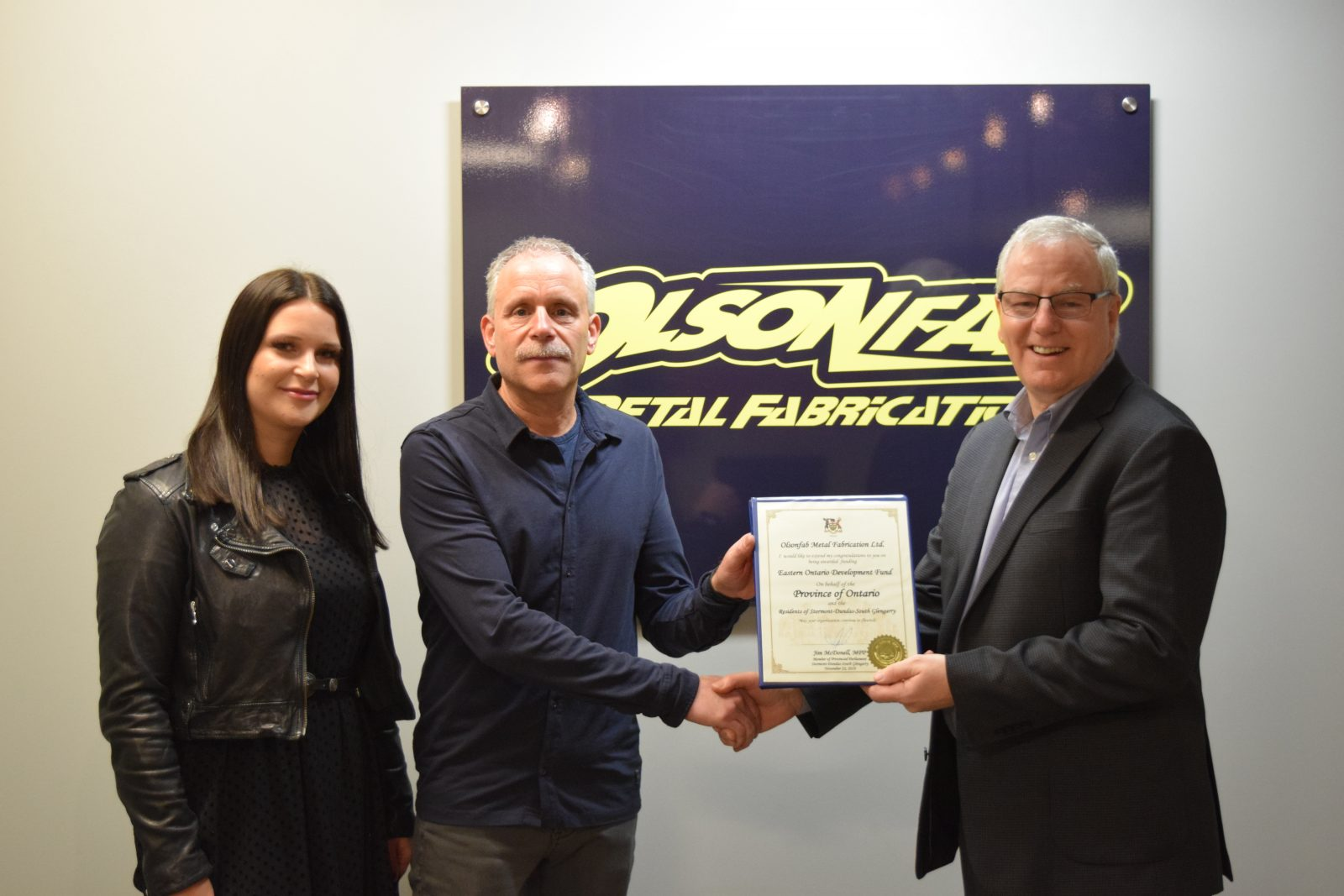Olsonfab receives provincial support for move