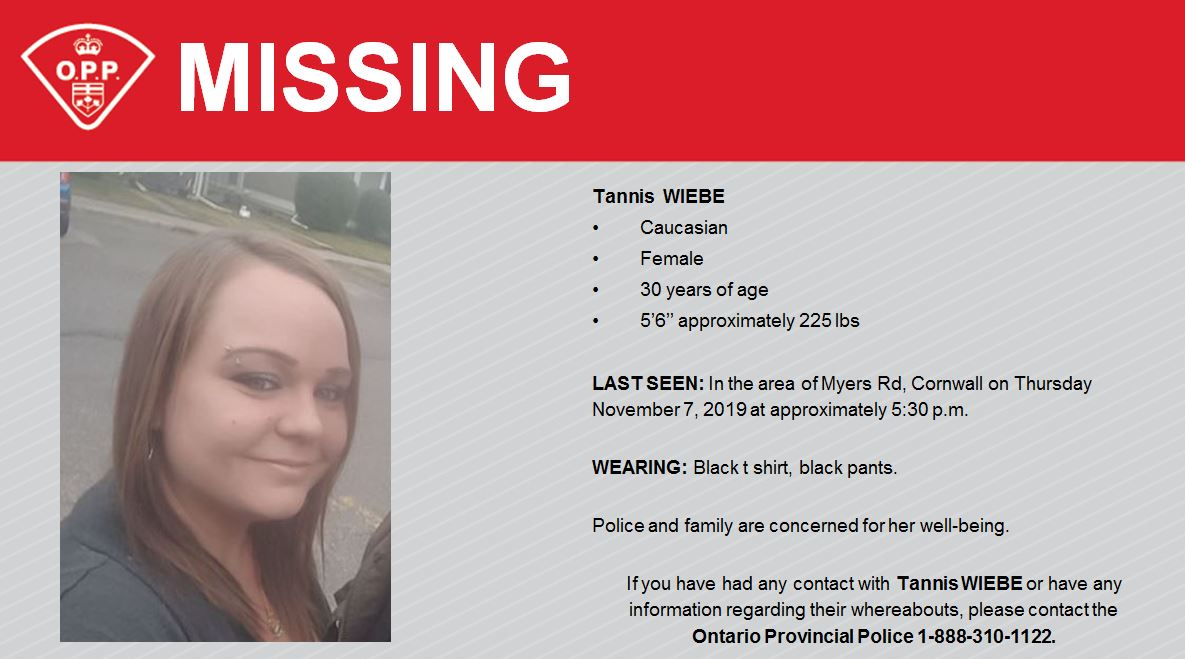 South Stormont woman missing