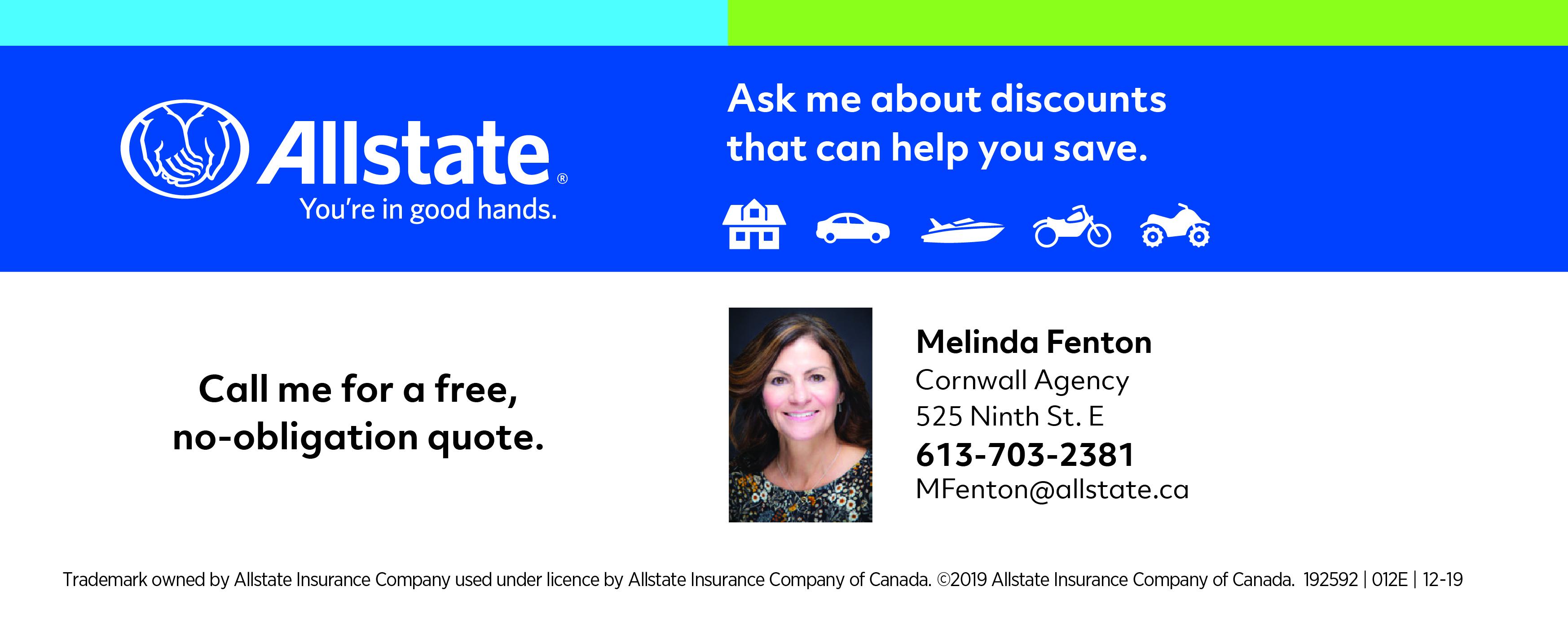 Melinda Fenton, Allstate, Cornwall, Ontario