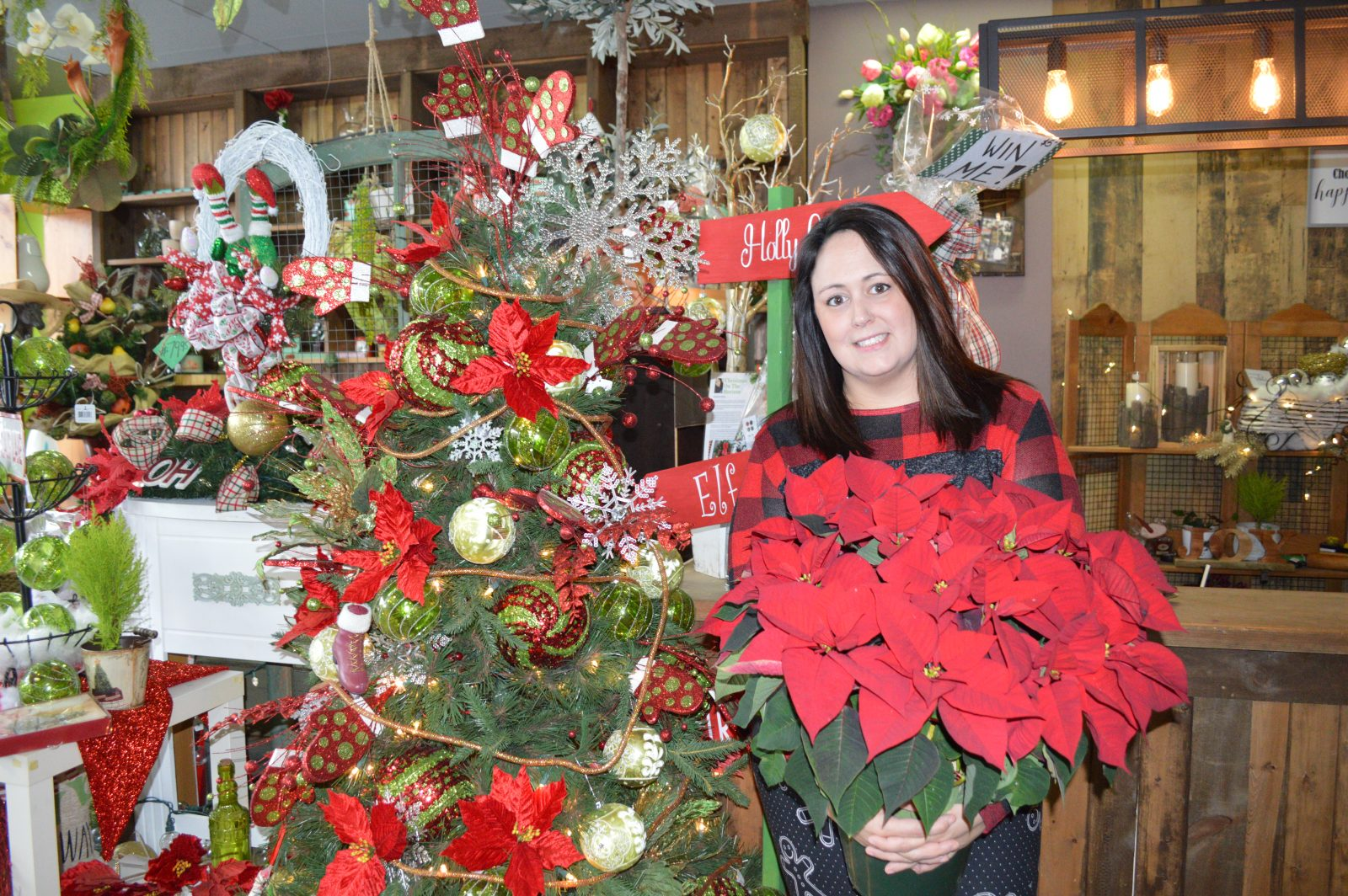 Flowers for kids at Christmas