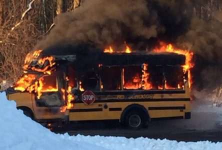 No injuries in Long Sault bus fire