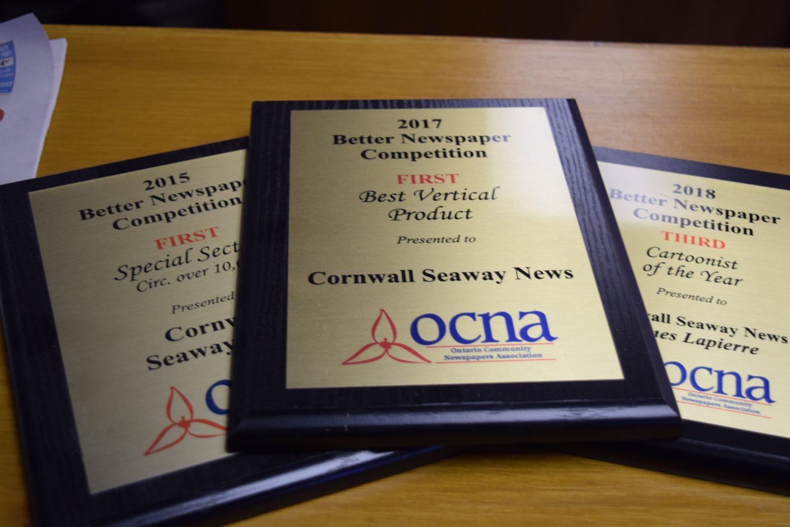Cornwall Seaway News gets nods for OCNA Awards