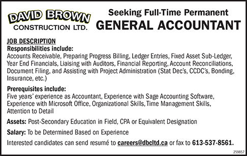 Full-Time Permanent General Accountant