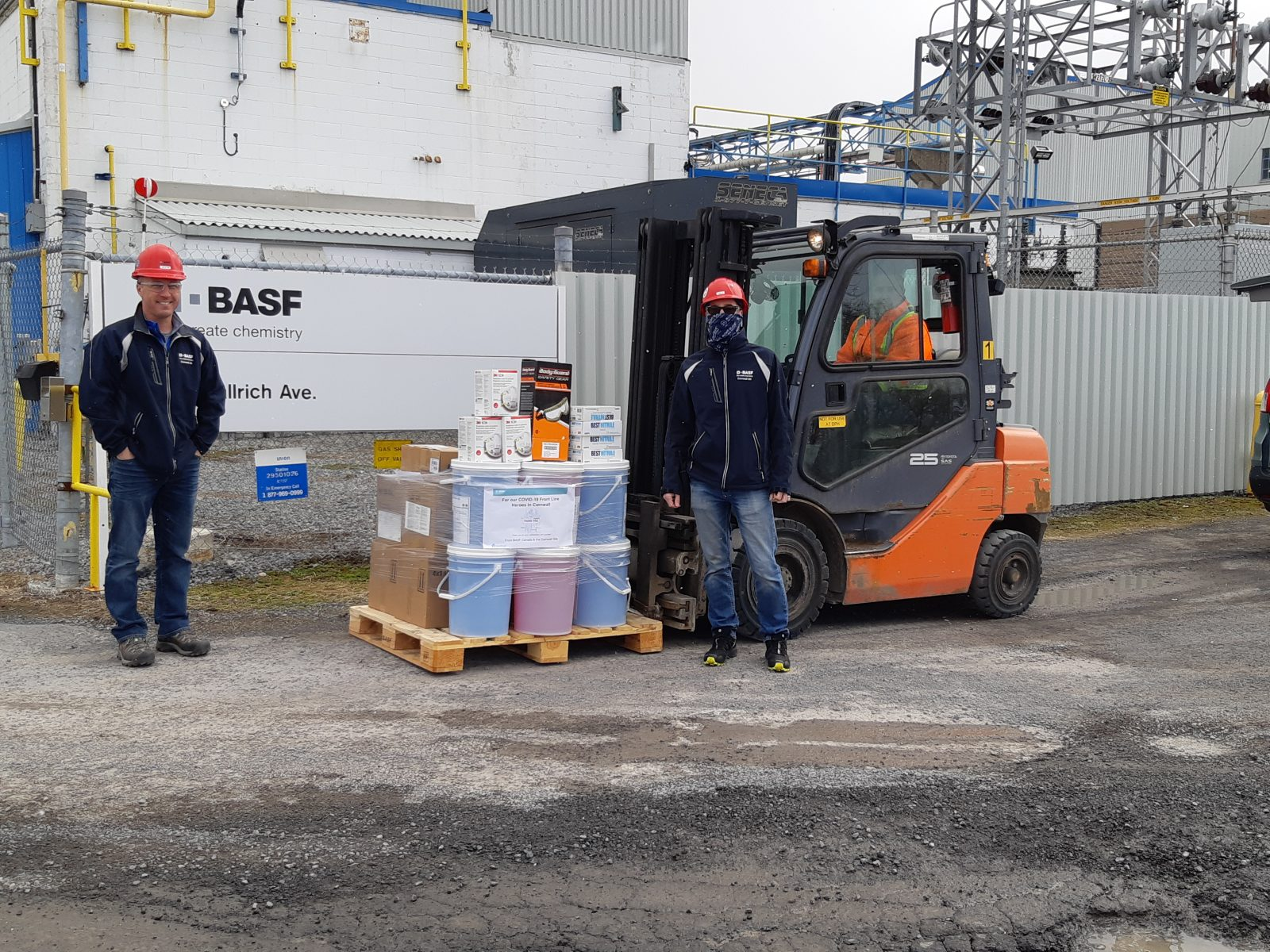 BASF supporting COVID fight in Cornwall