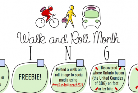 Walk and Roll Month BINGO!