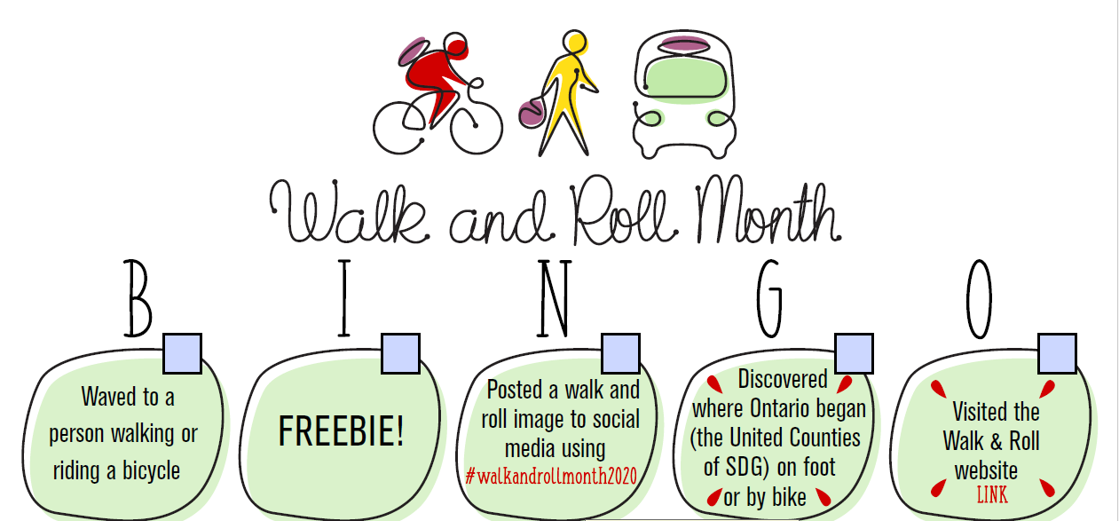 Walk and Roll Month BINGO!