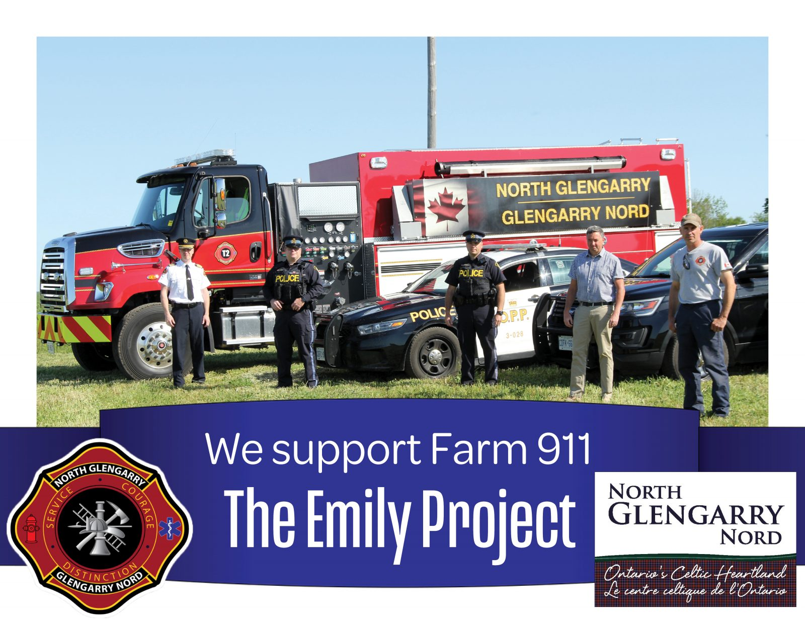 North Glengarry joins Farm 911 – Emily Project
