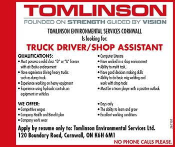 TRUCK DRIVER/SHOP ASSISTANT logo