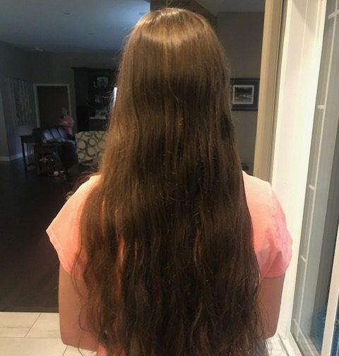 Having heart and donating hair