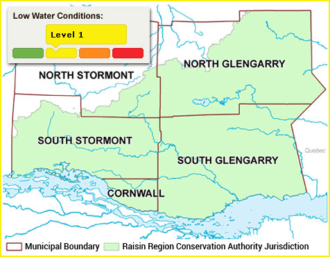 Low water levels across SD&G, Cornwall