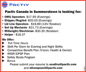 ASSORTED JOB POSITIONS AT PACTIV
