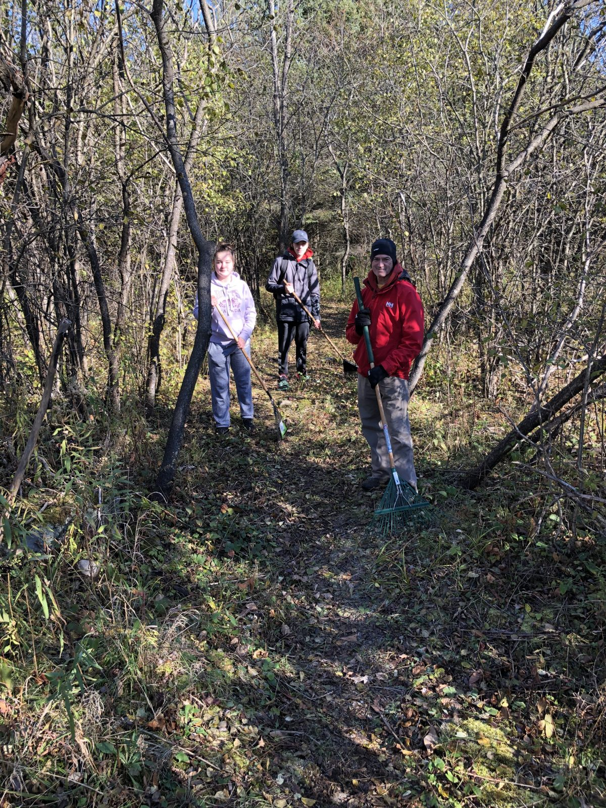 Clean-up day at Summerstown Trails