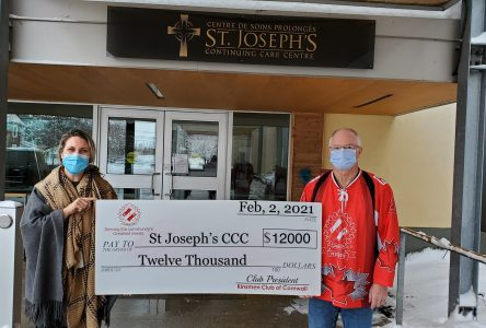 Kinsmen Club support St. Joseph's Continuing Care Centre