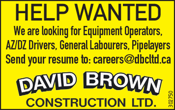EQUIPMENT OPERATORS, DRIVERS, LABOURERS and PIPE LAYERS