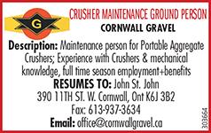 CRUSHER MAINTENANCE GROUND PERSON logo