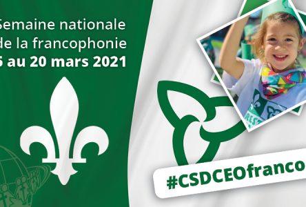 Activités virtuelles pour la Semaine nationale de la francophonie au CSDCEO